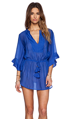 Vix Swimwear Tita Caftan in Blue Undersea