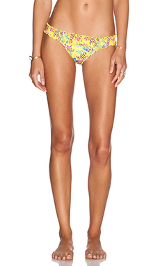 SOFIA by Vix Swimwear Ripple Rio Bikini Bottom in Lola