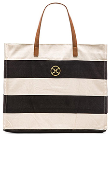 Vix Swimwear Stripe Beach Bag in Canvas
