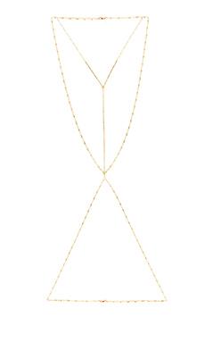 Vanessa Mooney Velorum Body Chain in Gold