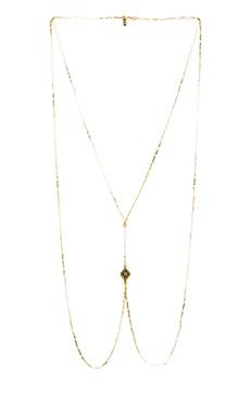 Vanessa Mooney Diamond Lace Body Chain in Gold