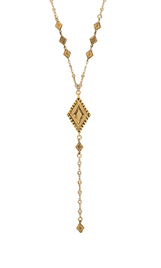 Vanessa Mooney My Cherie Rosary Necklace in Gold