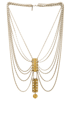 Vanessa Mooney The Blaze Necklace in Silver & Gold