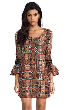 VOOM by Joy Han Calista Long Sleeve Dress in Brown