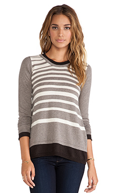 Vintageous Double Stripe Sweater in Taupe