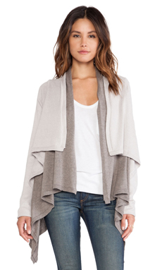 Vintageous Duet Cardigan in Fog & Taupe