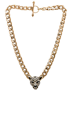 Wanderlust + Co Leopard XL Chain Necklace in Gold
