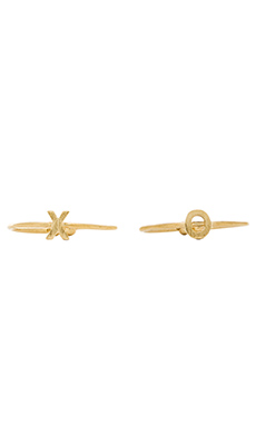Wanderlust + Co X & O Ring Set in Gold
