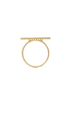 Wanderlust + Co Crystal Bar Ring in Gold