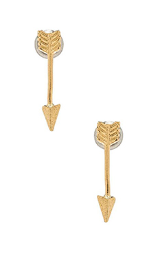 Wanderlust + Co Arrow Earring in Gold