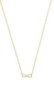 Wanderlust + Co Infinity Necklace in Gold
