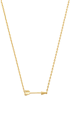 Wanderlust + Co Arrow Necklace in Gold