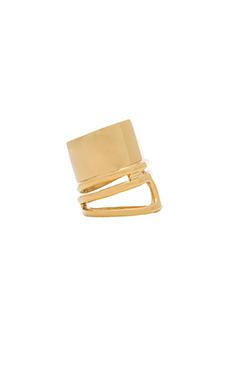 Wanderlust + Co XL Barrel Ring in Gold