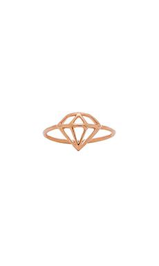Wanderlust + Co Frame Diamond Ring in Rose Gold