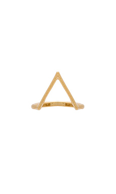 Wanderlust + Co Triangle Ring in Gold