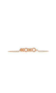 Wanderlust + Co XOXO Bracelet in Rose Gold