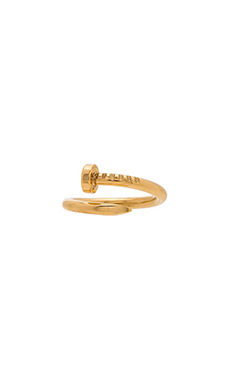 Wanderlust + Co XL Screw Split Ring in Gold