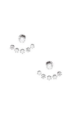 Wanderlust + Co Crystal Ear Cuff in Silver