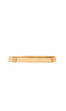 Wanderlust + Co Screw & Bar Bracelet in Gold