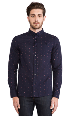 Weekend Offender Toscani Shirt in Navy