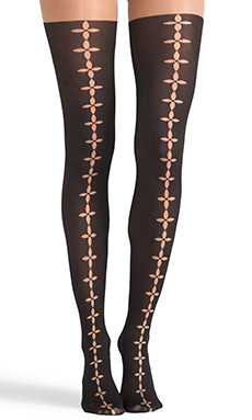 Wolford Phila Tights in Sahara & Black