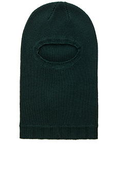 wings + horns Balaclava in Evergreen