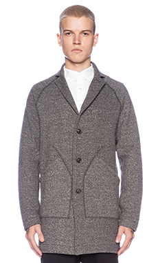wings + horns Chesterfield Jacket in Charcoal