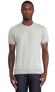 wings + horns Short Sleeve Crewneck Sweater in Grey Melange