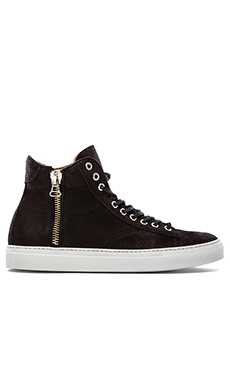 wings + horns Leather Hi-Top in Black & White
