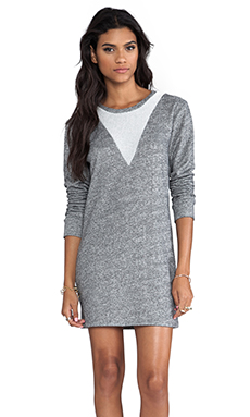 Whetherly French Terry Robin Dress in Charcoal