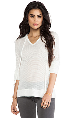 Whetherly Waffle Boucle Mandy Sweatshirt in White