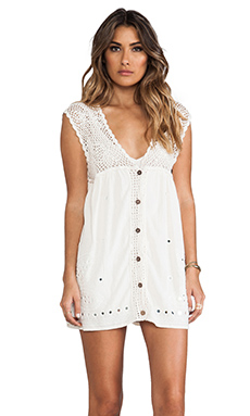 wildheart Shanti Mini Dress in White