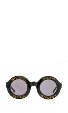 Wildfox Couture Bel Air Sunglasses in Black/Gold/Grey