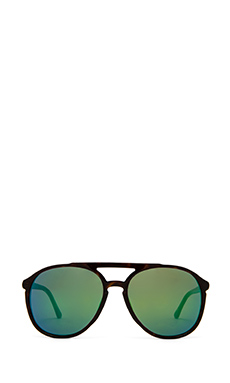Wildfox Couture Amelia Delux in Tortoise & Green Mirror