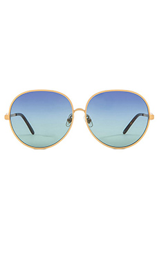 Wildfox Couture Fleur Sunglasses in Gold & Multi Gradient