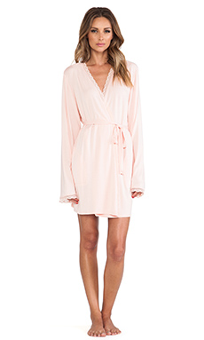 Wildfox Couture Mon Cherie Never Get Dressed Robe in Peach Peony