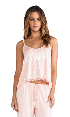 Wildfox Couture 60's Polka Dot Cami Pj Set in Peach Peony