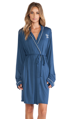 Wildfox Couture Loved Robe in Navy