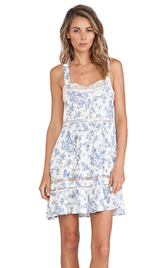 Wildfox Couture Pinafore Slip in English Toile