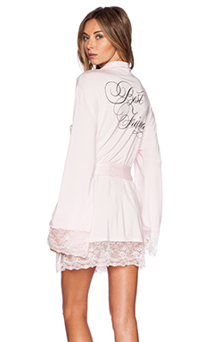Wildfox Couture Intimates Best Friends Dressing Robe in Blushing Bride