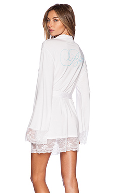 Wildfox Couture Intimates Here Comes The Bride Dressing Robe in White Wedding