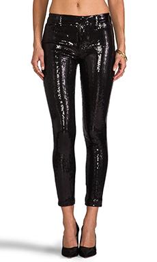 Wildfox Couture Raquel Mid Rise Sequin Skinny in Black