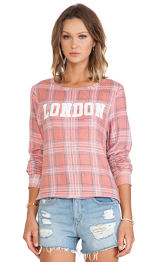 Wildfox Couture London laid Pullover in Multi