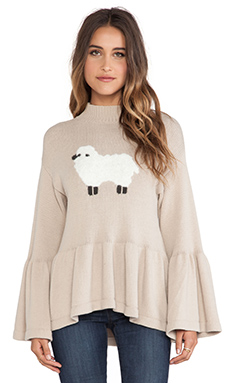 Wildfox Couture Counting Sheep Pullover in Tea Time