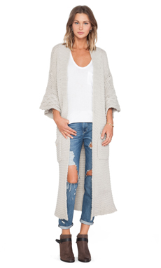 Wildfox Couture Cardigan in Morning Mist