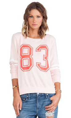 Wildfox Couture Sporty 83 Pullover in Rose Bud