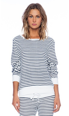 Wildfox Couture x REVOLVE Baggy Beach Jumper in Clean White & Navy