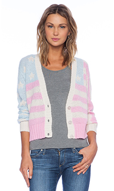 Wildfox Couture American Darling Cardigan in Multi