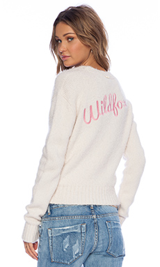Wildfox Couture White Label Fun Fox Sweater in Vintage Lace