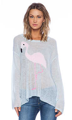 Wildfox Couture White Label Pink Pet Sweater in Honolulu Blue